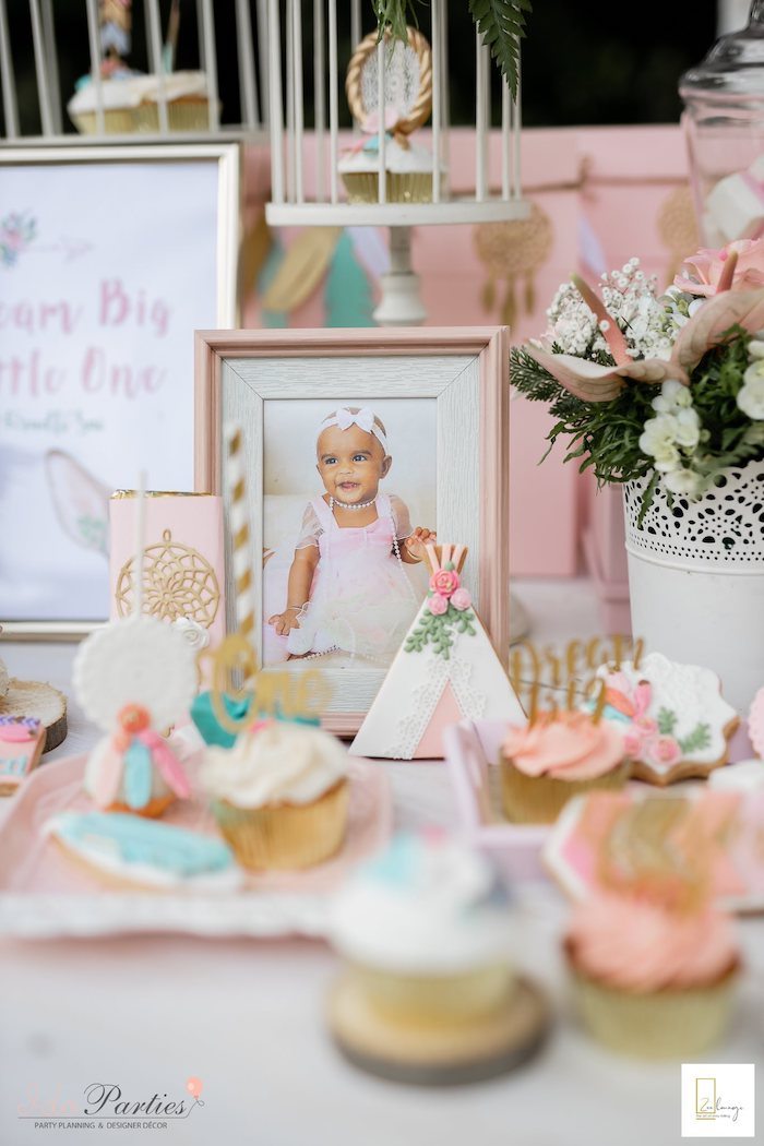 Highlight Photo + Dessert Table from a Boho Chic Birthday Party on Kara's Party Ideas | KarasPartyIdeas.com (29)