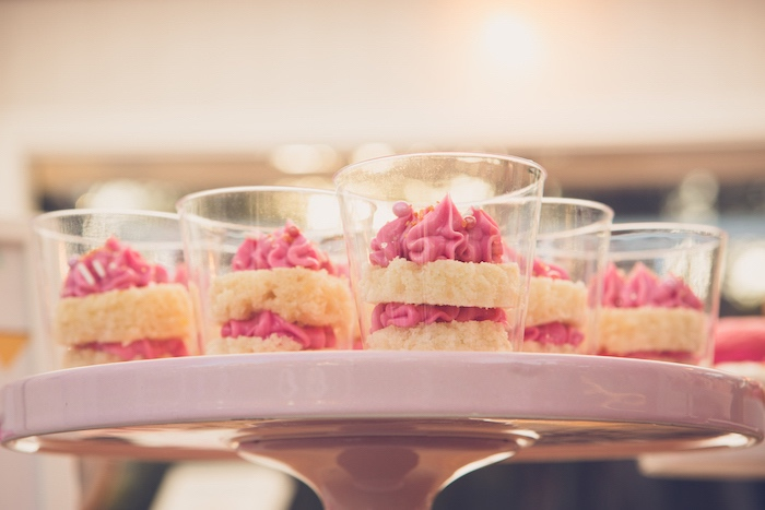 Stacked Cake Dessert Cups from a Bright & Modern Glamping Birthday Party on Kara's Party Ideas | KarasPartyIdeas.com (22)