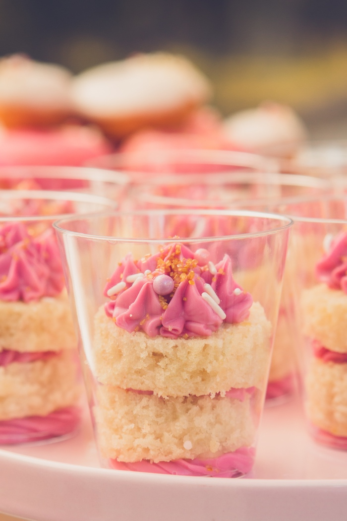 Dessert Cake Cups from a Bright & Modern Glamping Birthday Party on Kara's Party Ideas | KarasPartyIdeas.com (21)