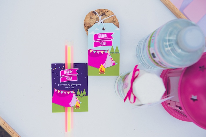 Glamping Party Favors + Labels from a Bright & Modern Glamping Birthday Party on Kara's Party Ideas | KarasPartyIdeas.com (39)