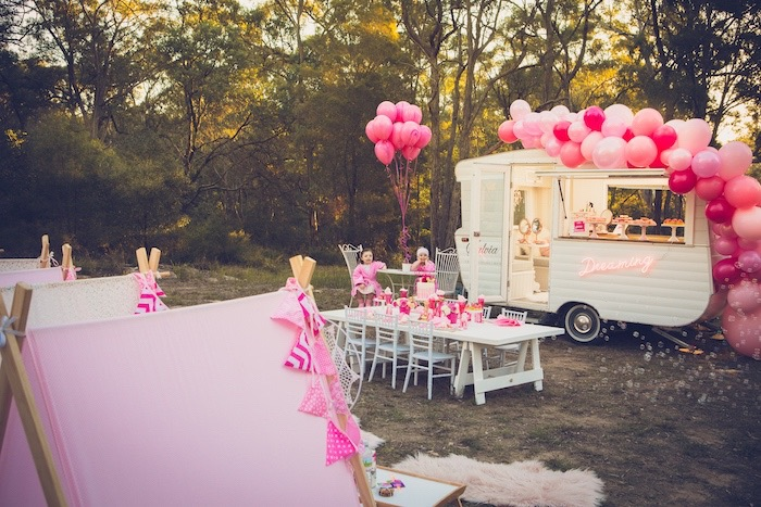 Bright & Modern Glamping Birthday Party on Kara's Party Ideas | KarasPartyIdeas.com (16)