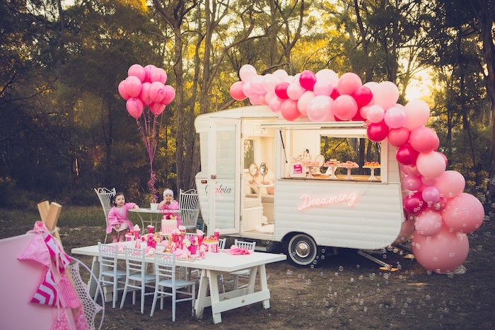Bright & Modern Glamping Birthday Party on Kara's Party Ideas | KarasPartyIdeas.com (15)