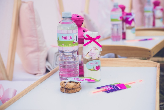 Favors from a Bright & Modern Glamping Birthday Party on Kara's Party Ideas | KarasPartyIdeas.com (38)