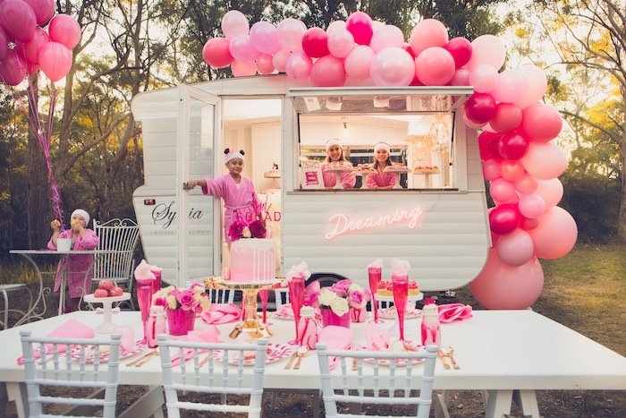 Bright & Modern Glamping Birthday Party on Kara's Party Ideas | KarasPartyIdeas.com (10)