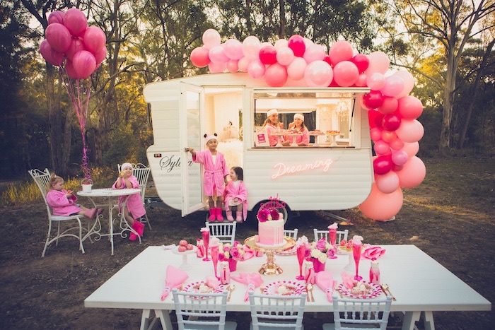 Bright & Modern Glamping Birthday Party on Kara's Party Ideas | KarasPartyIdeas.com (9)