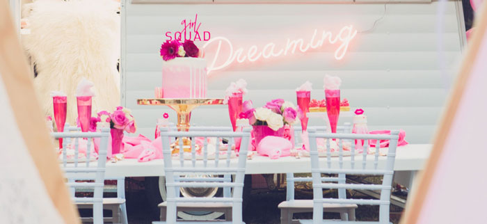 Bright & Modern Glamping Birthday Party on Kara's Party Ideas | KarasPartyIdeas.com (2)