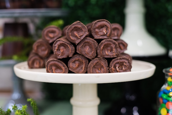 Log Rolls from a Camping Birthday Party on Kara's Party Ideas | KarasPartyIdeas.com (19)