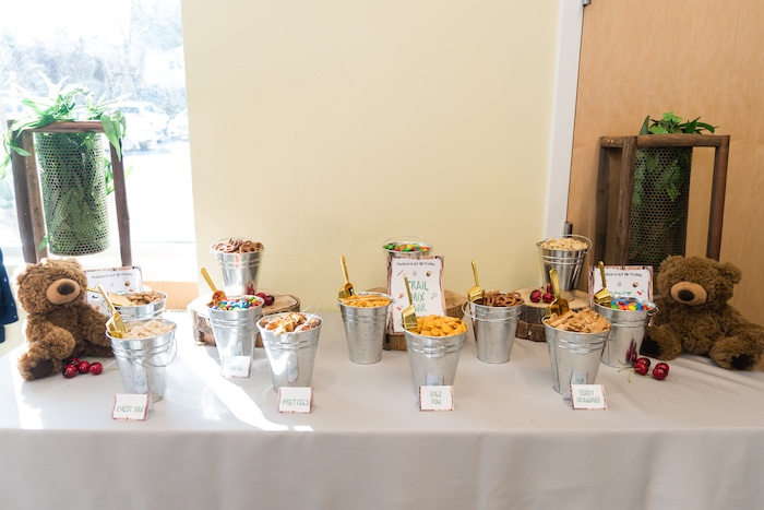 Trail Mix Bar from a Camping Birthday Party on Kara's Party Ideas | KarasPartyIdeas.com (28)