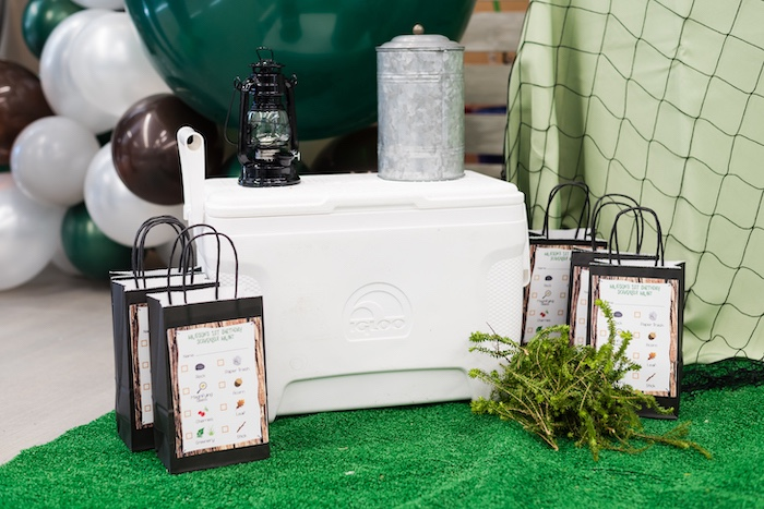 Camping Cooler Prop + Decoration from a Camping Birthday Party on Kara's Party Ideas | KarasPartyIdeas.com (9)