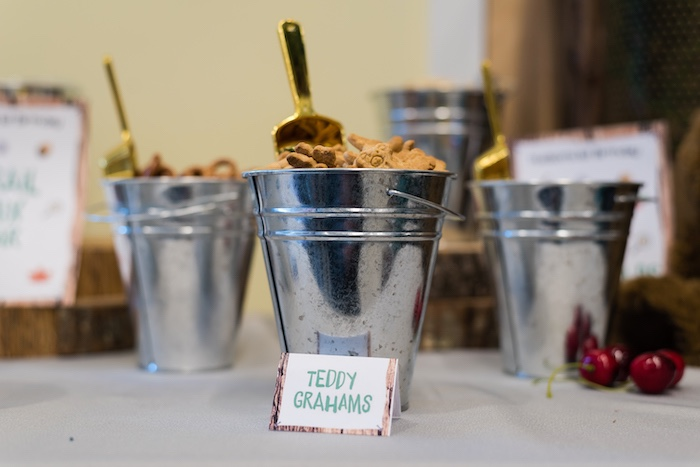 Trail Mix Bar from a Camping Birthday Party on Kara's Party Ideas | KarasPartyIdeas.com (24)