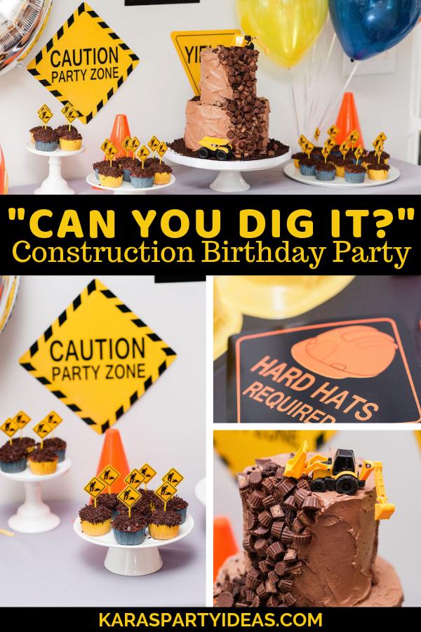 Can You Dig it Construction Birthday Party via Kara's Party Ideas - KarasPartyIdeas.com