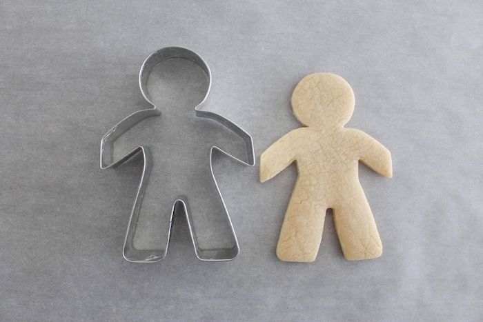 Character Cookie + Cookie Cutter from a Stranger Things Sugar Cookies Tutorial on Kara's Party Ideas | KarasPartyIdeas.com
