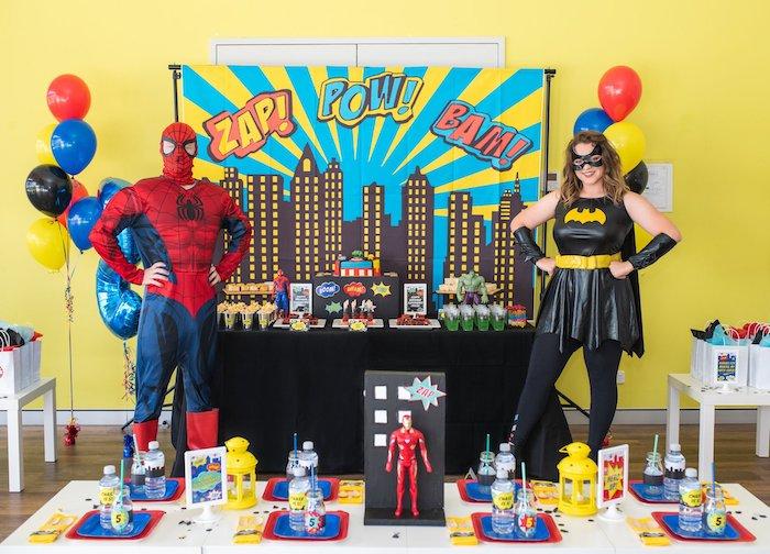 Comic Book Superhero Birthday Party on Kara's Party Ideas   KarasPartyIdeas.com (7)