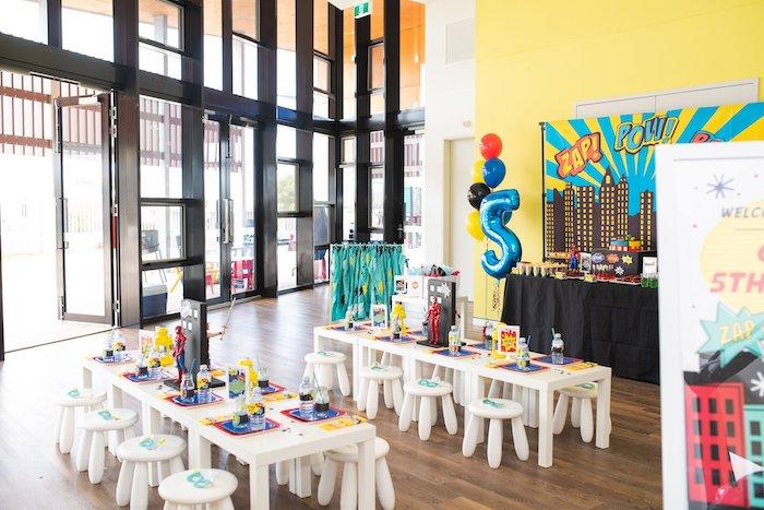Comic Book Superhero Birthday Party on Kara's Party Ideas   KarasPartyIdeas.com (29)