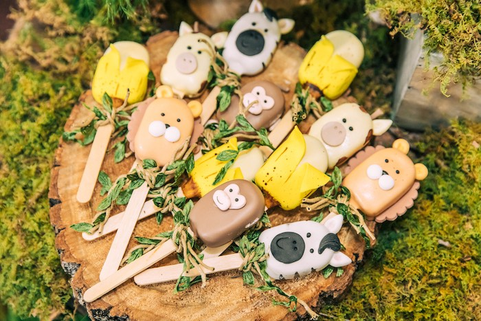 Safari Animal + Banana Cakesicles from a Curious George Safari Birthday Party on Kara's Party Ideas | KarasPartyIdeas.com (36)