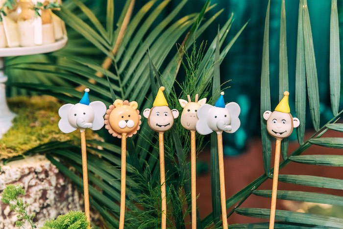 Curious George & Safari Animal Cake Pops from a Curious George Safari Birthday Party on Kara's Party Ideas | KarasPartyIdeas.com (31)