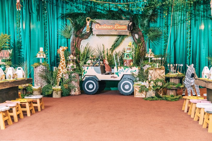 Curious George Safari Birthday Party on Kara's Party Ideas | KarasPartyIdeas.com (30)