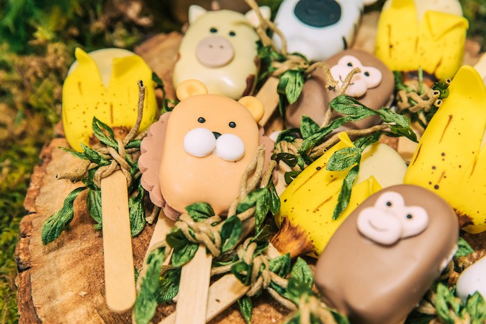 Safari Animal + Banana Cakesicles from a Curious George Safari Birthday Party on Kara's Party Ideas | KarasPartyIdeas.com (19)