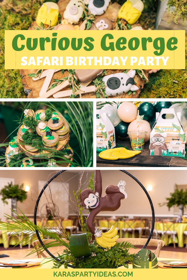 Curious George Safari Birthday Party via KarasPartyIdeas - KarasPartyIdeas.com