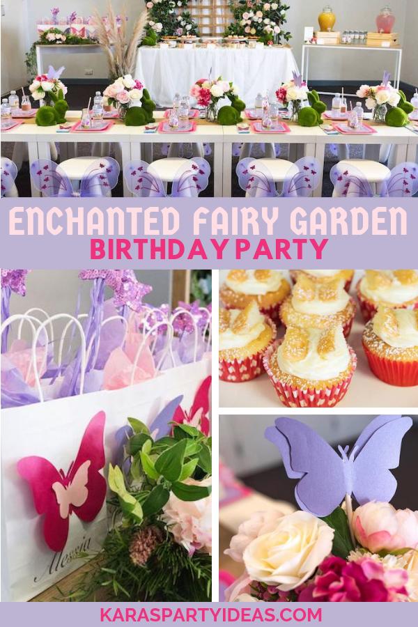 Enchanted Fairy Garden Birthdy Party via Kara's Party Ideas - KarasPartyIdeas.com