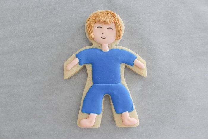 Face + Legs Detailing from a Stranger Things Sugar Cookies Tutorial on Kara's Party Ideas | KarasPartyIdeas.com