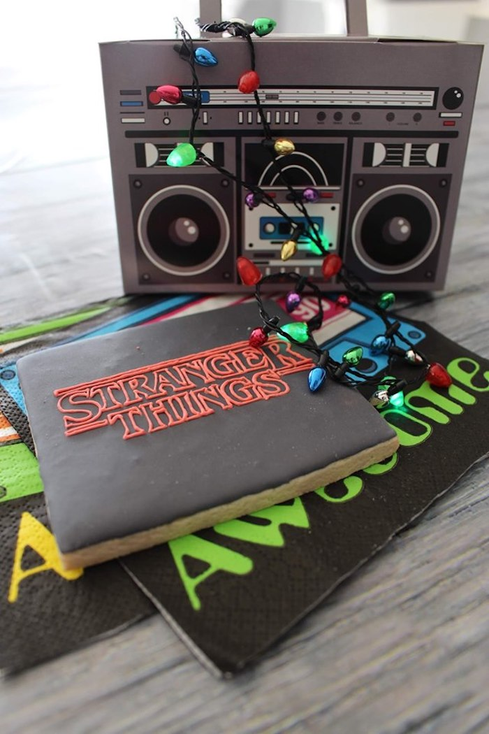 Stranger Things Sugar Cookies on Kara's Party Ideas | KarasPartyIdeas.com