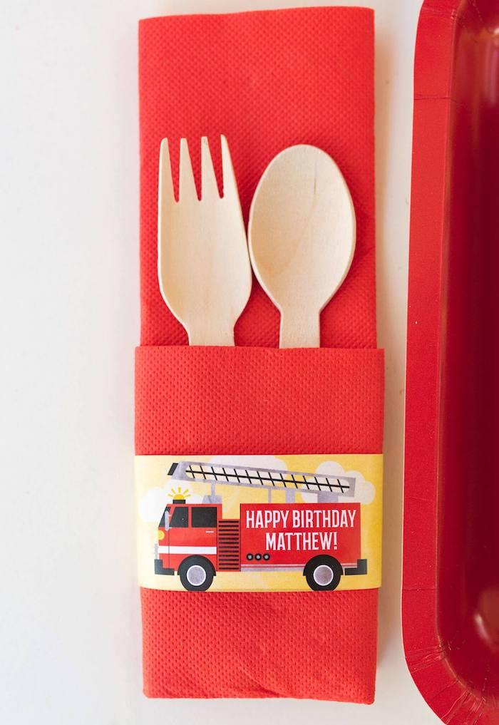 Firefighter Birthday Party on Kara's Party Ideas | KarasPartyIdeas.com (14)