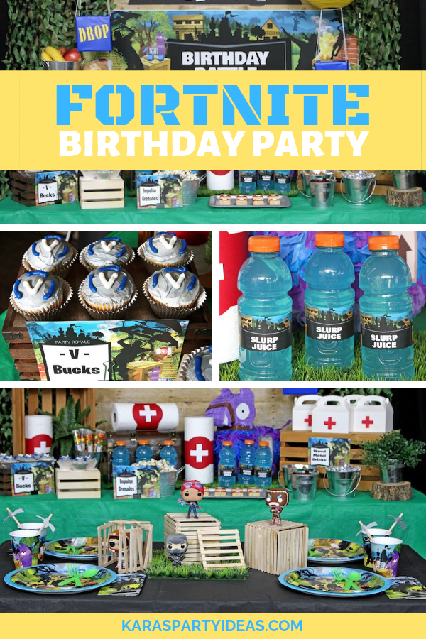 Fortnite Birthday Party via KarasPartyIdeas - KarasPartyIdeas.com
