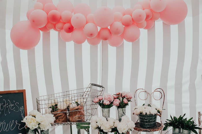Floral Shop Blooms from a French Market Birthday Party on Kara's Party Ideas | KarasPartyIdeas.com (33)