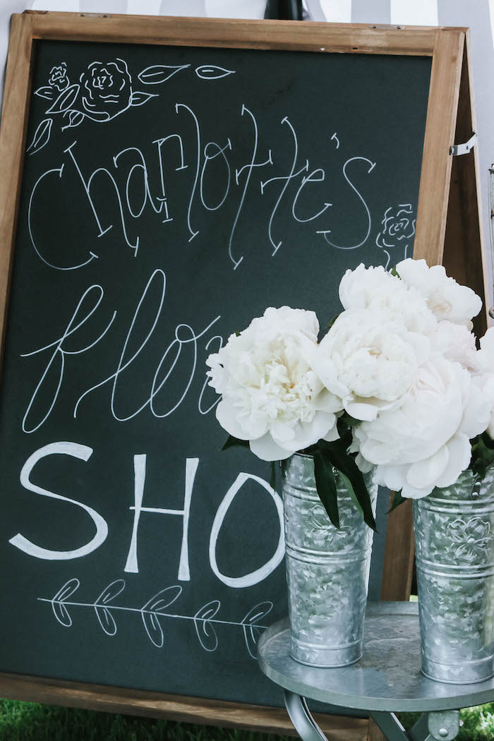 Chalkboard Sign from a French Market Birthday Party on Kara's Party Ideas | KarasPartyIdeas.com (13)