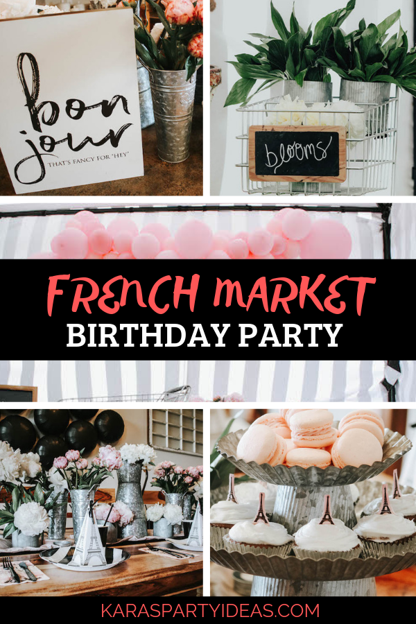 French Market Birthday Party via Kara's Party Ideas - KarasPartyIdeas.com