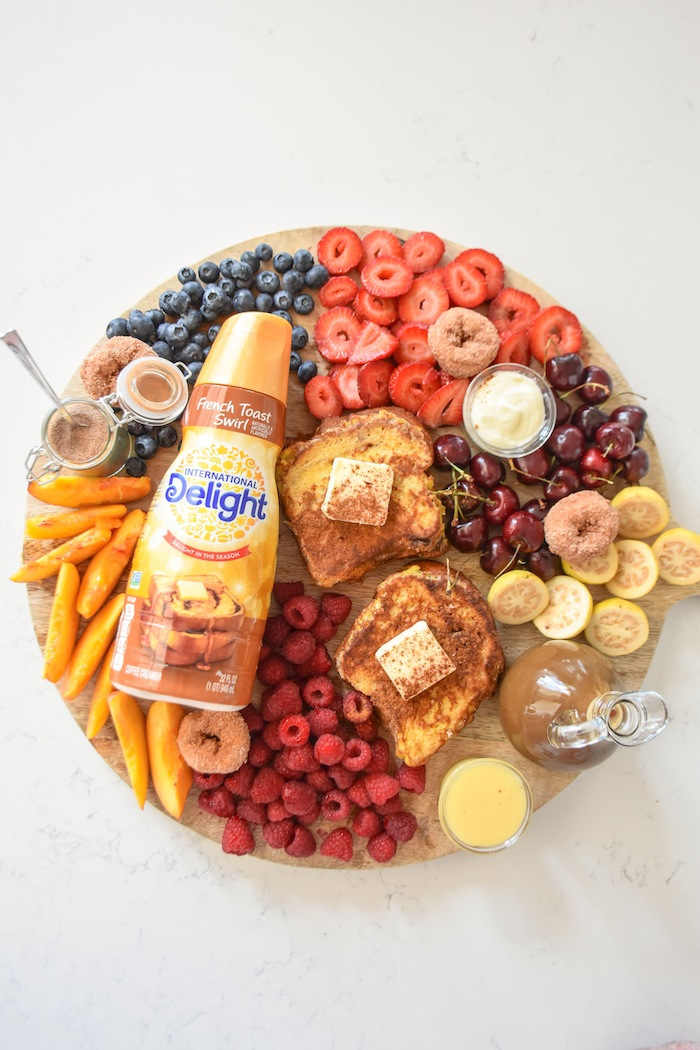 French Toast Charcuterie Board with International Delight #AD via Kara's Party Ideas | karaspartyideas.com