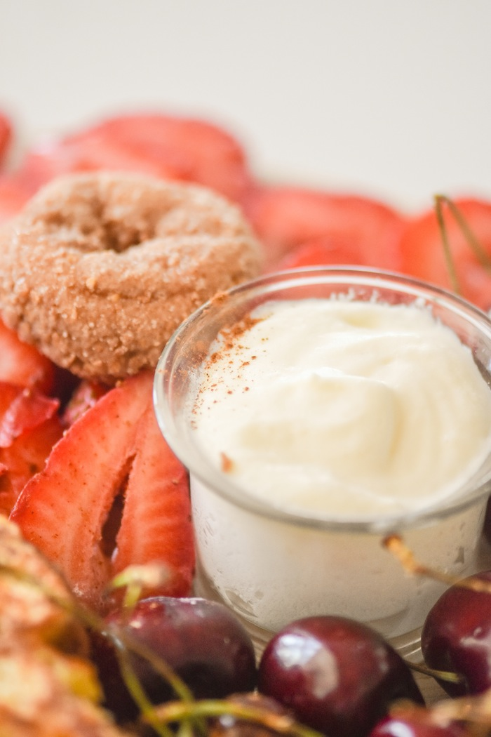Whipped butter   French Toast Charcuterie Board with International Delight #AD via Kara's Party Ideas   karaspartyideas.com