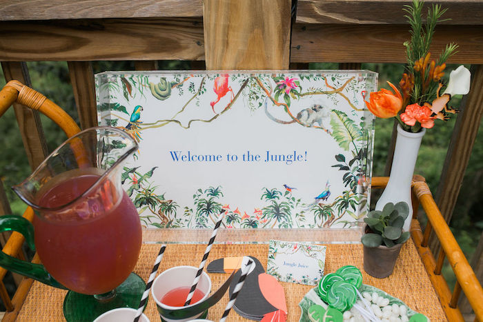 Jungle Juice Bar + Jungle Party Signage from a Jungle Birthday Party on Kara's Party Ideas | KarasPartyIdeas.com (16)