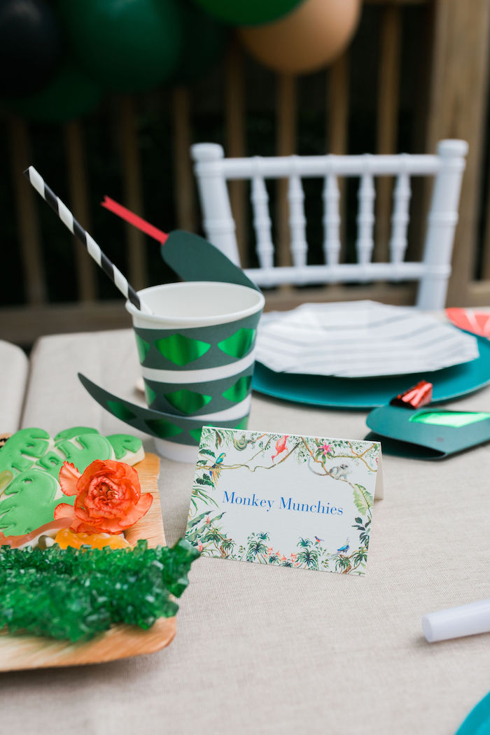 Jungle-inspired Sweet Label from a Jungle Birthday Party on Kara's Party Ideas | KarasPartyIdeas.com (8)