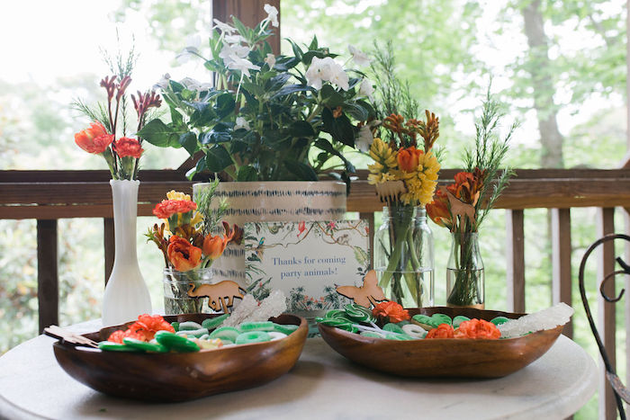 Jungle Party Table from a Jungle Birthday Party on Kara's Party Ideas | KarasPartyIdeas.com (26)