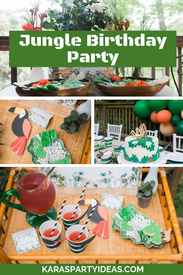 Jungle Birthday Party via KarasPartyIdeas - KarasPartyIdeas.com