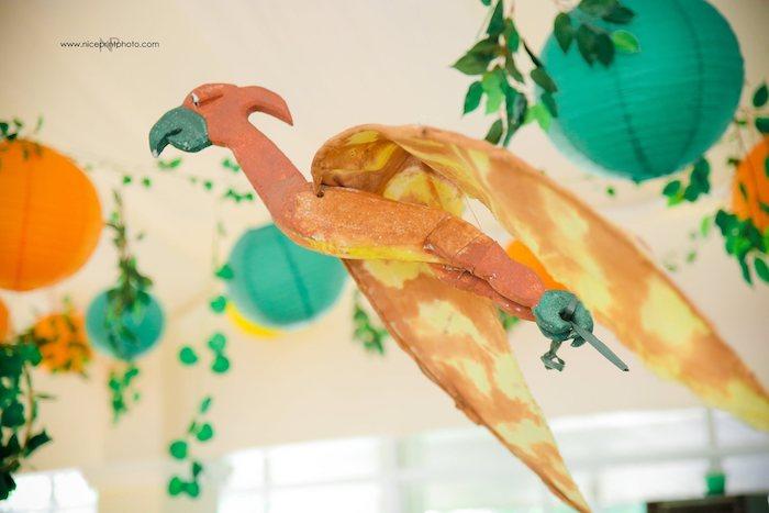 Flying Pterodactyl from a Jurassic Park Dinosaur Birthday Party on Kara's Party Ideas | KarasPartyIdeas.com (16)