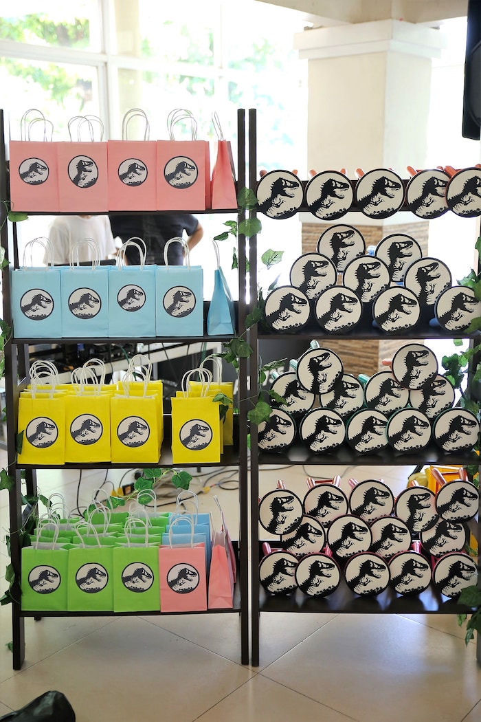 Favors + Gift Bags from a Jurassic Park Dinosaur Birthday Party on Kara's Party Ideas | KarasPartyIdeas.com (13)
