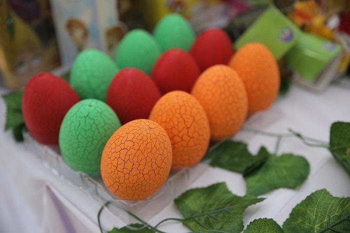 Dinosaur Eggs from a Jurassic Park Dinosaur Birthday Party on Kara's Party Ideas | KarasPartyIdeas.com (9)