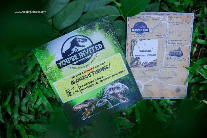 Jurassic Park Party Invite from a Jurassic Park Dinosaur Birthday Party on Kara's Party Ideas | KarasPartyIdeas.com (23)