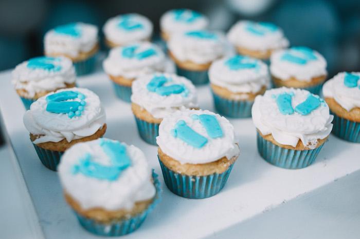 Footprint Cupcakes from a Little Bear Baby Shower on Kara's Party Ideas | KarasPartyIdeas.com (21)