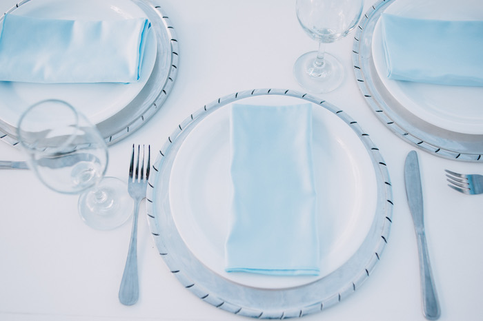 Blue + White Table Setting from a Little Bear Baby Shower on Kara's Party Ideas | KarasPartyIdeas.com (9)