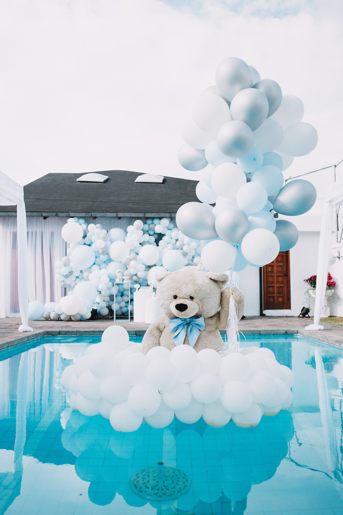 Floating Bear from a Little Bear Baby Shower on Kara's Party Ideas | KarasPartyIdeas.com (8)