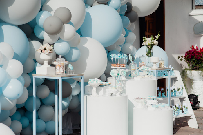 Blue + White Sweet Spread from a Little Bear Baby Shower on Kara's Party Ideas | KarasPartyIdeas.com (5)
