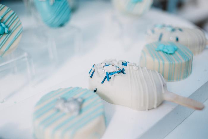 Cake Popsicles & Oreos from a Little Bear Baby Shower on Kara's Party Ideas | KarasPartyIdeas.com (30)