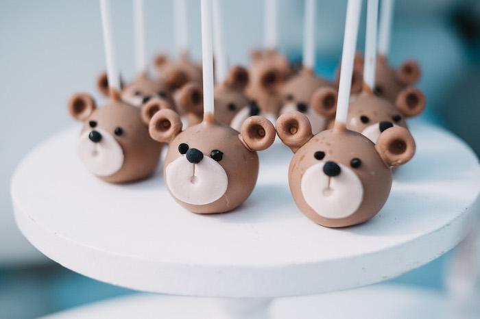 Bear Cake Pops from a Little Bear Baby Shower on Kara's Party Ideas | KarasPartyIdeas.com (27)