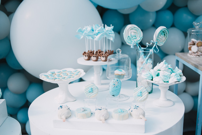 Sweet Table from a Little Bear Baby Shower on Kara's Party Ideas | KarasPartyIdeas.com (26)
