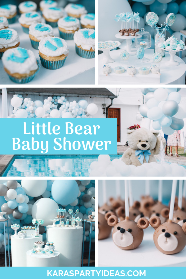 Little Bear Baby Shower via Kara's Party Ideas - KarasPartyIdeas.com