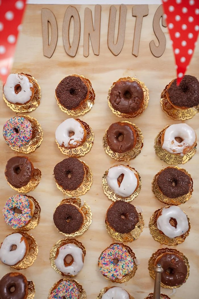 Donut Board from a Little Red Riding Hood Birthday Party on Kara's Party Ideas | KarasPartyIdeas.com (9)